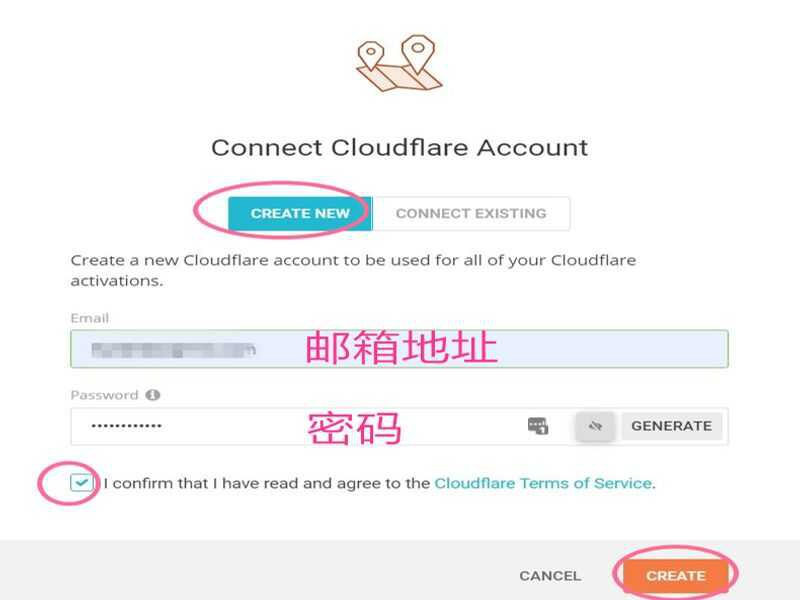 siteground cloudflare create account