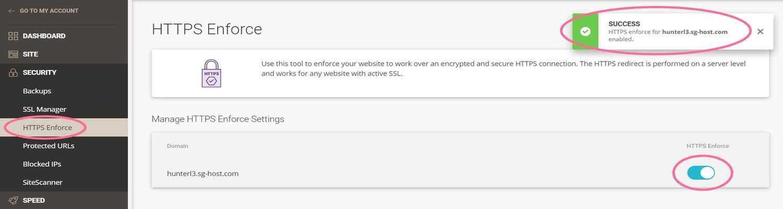 siteground https enforce