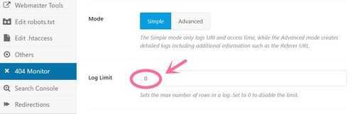 rank math 404 monitor