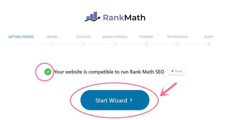 rank math start wizard