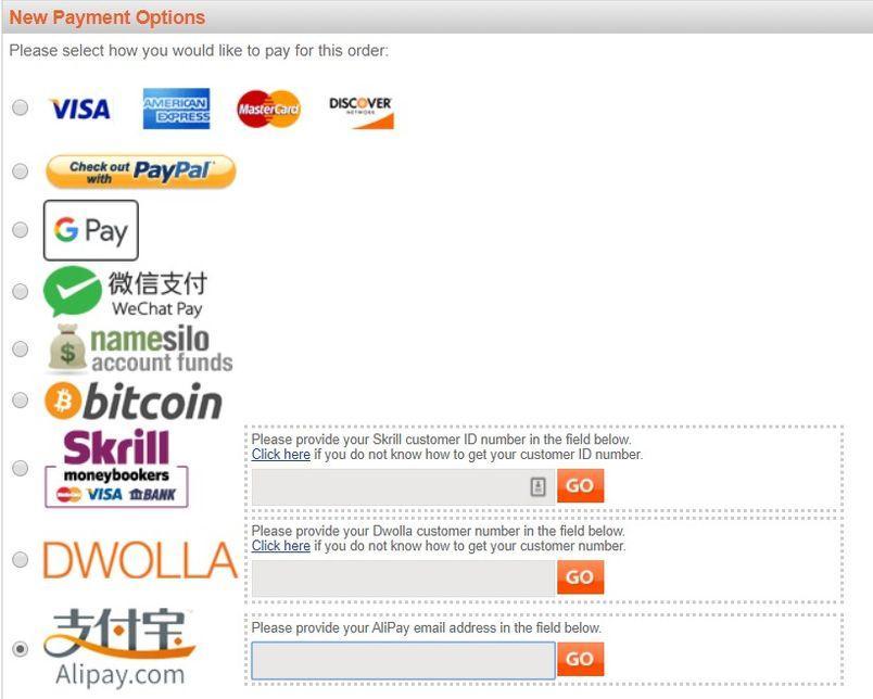 namesilo-payment
